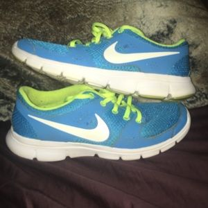 Blue and Yellow Nike Tennis Shoes